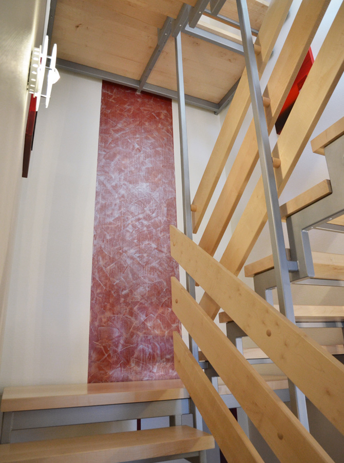 Treppenhaus eines Mehrfamilienhauses in Herne